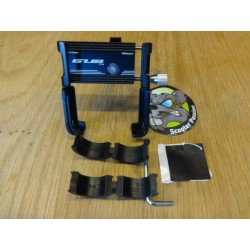 Support smartphone Aluminium CNC NOIR fixation guidon trottinette électrique