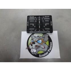 porte plaque d'immatriculation scooter passion en belgique pièces détachées accessoires lambretta vespa