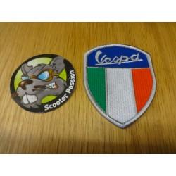 Broderie Vespa Italia Blason