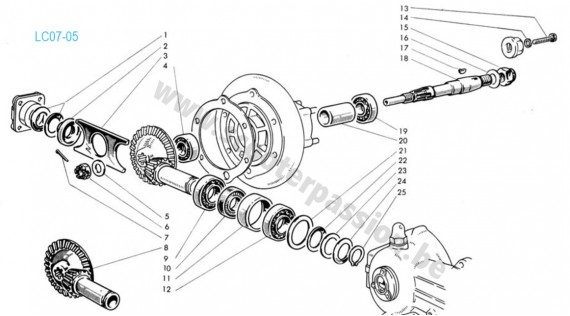 Transmission Lambretta 150 D, LD 1954 à 1956, 125 LD 1956, 125-150 LD 1957