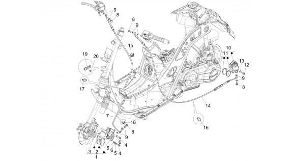 Durites et étriers de freinage - SANS ABS