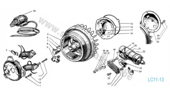 Allumage 4 pôles Lambretta Serie 3 LI 125-150, Special, TV175, SX 150-200