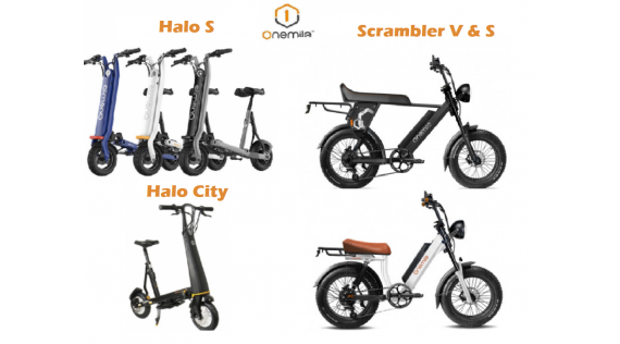 ONEMILE Halo City - Scooter électrique pliable et pièces détachées