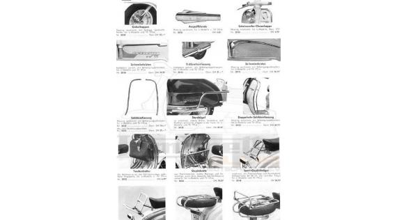 Accessoires Lambretta Serie 3 LI 125-150, Special, TV175, SX 150-200