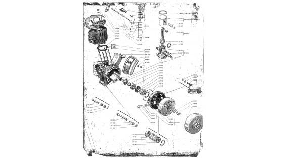 Groupe thermique, vilebrequin, roulements et joints moteur