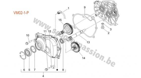 Transmission de roue arrière