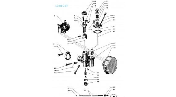 Carburateur DELLORTO Lambretta C