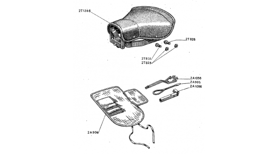 Selle et trousse à outils Lambretta B
