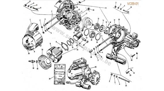 Carter, groupe thermique, joints moteur
