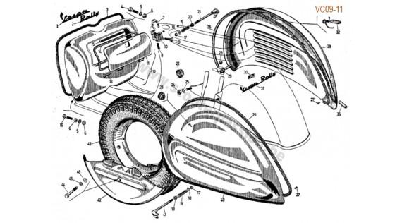 Châssis, ales  et emblème Rally 180