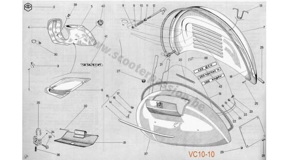 Châssis, ailes et emblèmes GTR, Sprint Veloce, Super 150 et TS