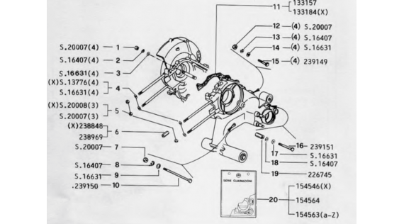 Carter et kit joints moteur